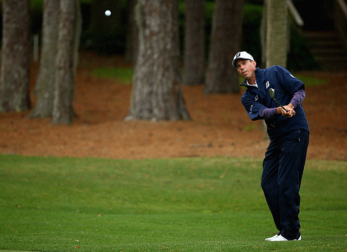 First-round leader Matt Kuchar, got off to a rough start Friday, making double bogey at the 4th and 6th holes.