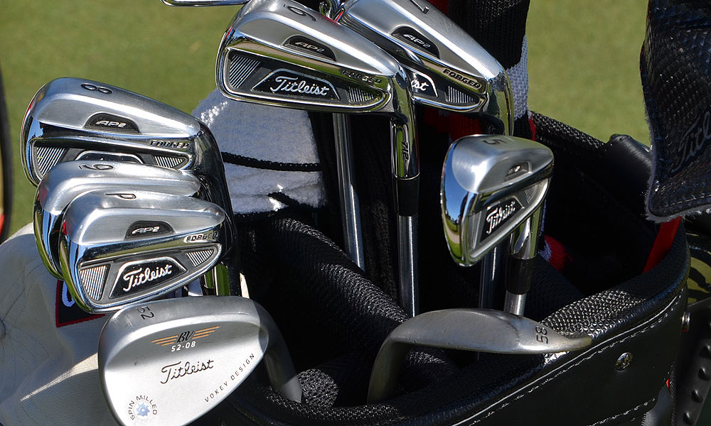 Matteo Manassero uses a set of Titleist 712 AP2 irons.