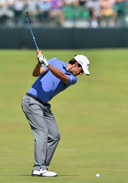Matteo Manassero shot a five-under 67 and was a shot back of Rory McIlroy after the first round.