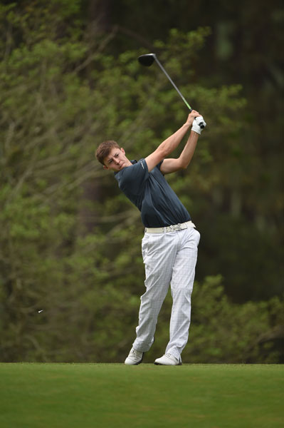 """U.S. Amateur champion Matthew Fitzpatrick shot a 1-over 71 in his U.S. Open debut. He played alongside Phil Mickelson and Justin Rose. """"They were both positive with me and about me,"""" he said. """"If I hit a good shot, I heard them say, 'Good shot.' And it was nice to have that support from two fantastic players."""""""