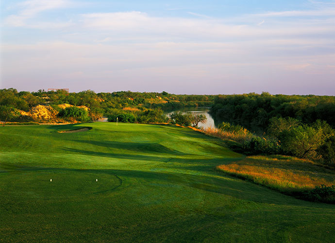 14. Robert Trent Jones Jr.: With a healthy roster of Texas course credits, Trent Jones Jr. gained some good-natured infamy designing the first green at Cottonwood Valley in the shape of Texas, complete with an Oklahoma-shaped bunker. In 2012, he opened Max A. Mandel (pictured here) in Laredo, overlooking the Rio Grande.