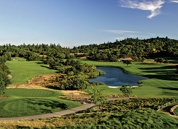 7. Mayacama, Santa Rosa, Calif.: Draped over Wine Country land once owned by Charlie Brown creator Charles Schulz, Mayacama is no laughing matter. Short on scorecard yardage at 6,785 from the tips, Mayacama brutalizes with narrow fairways and forced carries into shallow greens benched into hillsides, but soothes with oak-covered mountain backdrops and dramatic canyon panoramas.