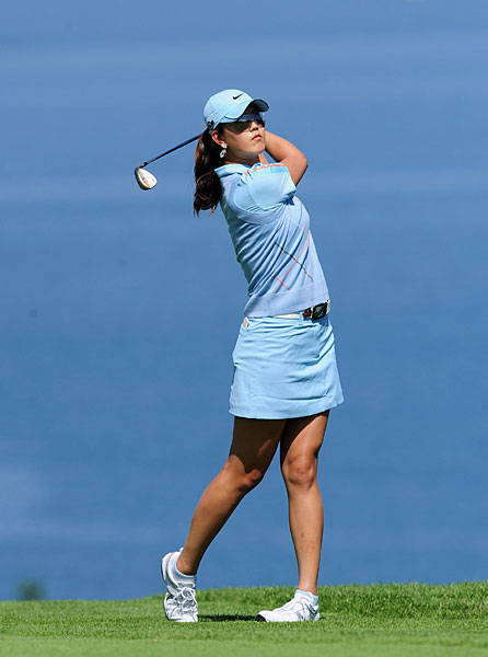 Michelle Wie shot a two-under 70 to move into a tie for 23rd place at three under.