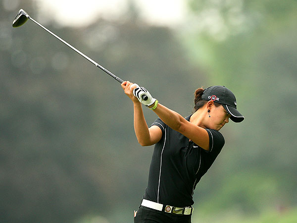 Michelle Wie also shot 68. She is tied with Creamer in fourth place with 18 holes remaining.