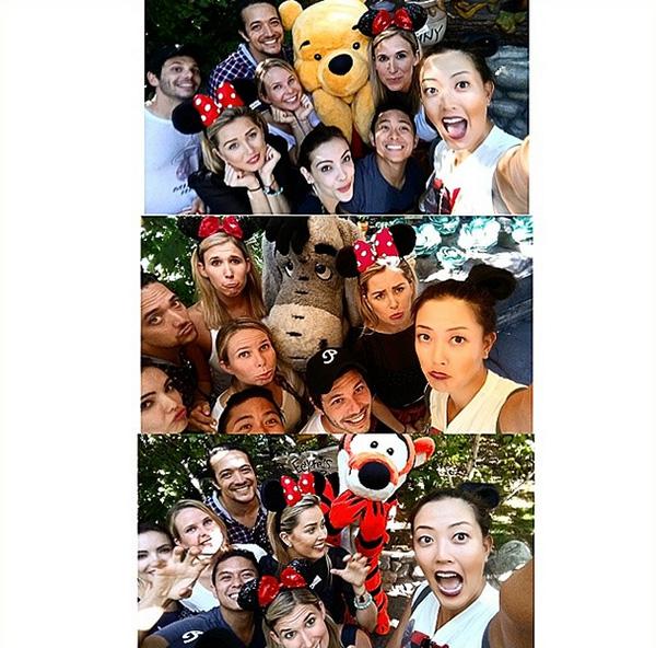 @themichellewie #GroupSelfWIE (haha get it? SelfWIE lol) with our buddies Winnie, Tigger, and Eeyore #Disneyland