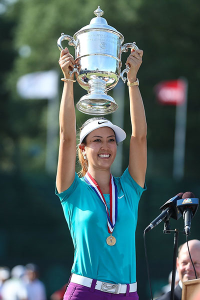 "BIGGEST WIN BY A FORMER PHENOM                           Michelle Wie at the U.S. Women's Open Half a lifetime after playing in her first major, Wie, at 24, finally won a big one, at Pinehurst in June. Even back when she was a gum-smacking teenage phenom, Wie's compass always pointed toward greatness–she just had to cross a few chasms to get there. She'd already endured wrist injuries, slumps, feuds, putting woes, and the weight of great expectations, so it was no surprise that Wie literally laughed off the double-bogey on the 70th hole that could have derailed her. Two pars later, a major -- the Women's Open trophy -- was finally hers. ""Stuff happens,"" a philosophical Wie said of the 16th hole hiccup. It does indeed, in golf and in life. You earned it, Michelle."