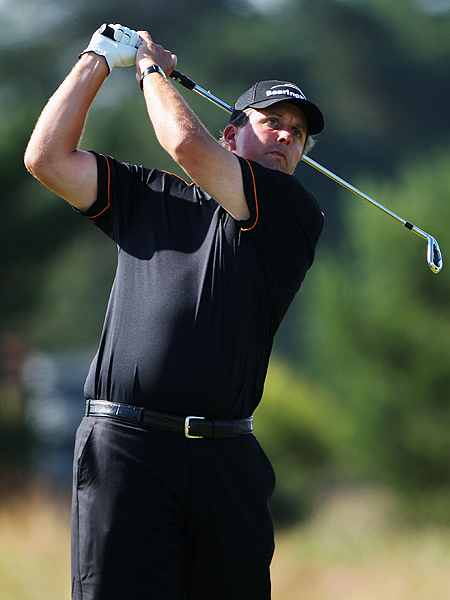Phil Micklelson's injured wrist will be put to the test by the thick rough at Carnoustie. His best performance at a British Open came in 2004, when he finished third at Royal Troon, his only top 10 in the event.