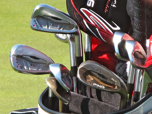 Miguel Angel Jimenez has yet to win a major, but if he captures his first this week, he'll do it with these Ping S56 irons.