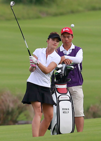 Golf is not Kelly's only connection to the world or sports -- she famously dated New York Yankees shortstop Derek Jeter.