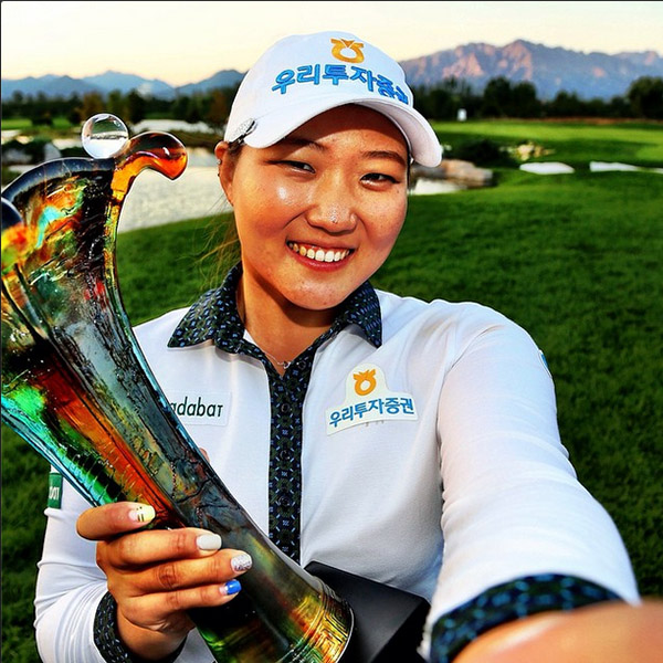@lpga_tour #LPGAWinnerSelfie w/ Mirim Lee at the Reignwood LPGA Classic