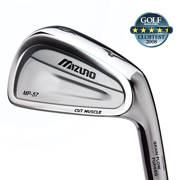 "Mizuno MP-57                        $849, steel                        mizunousa.com                                              We tested: 3-PW in True Temper Dynamic Gold steel shaft. Shaft length/loft (6-iron): 37.25""/31°                                               Company line: ""Our first MP iron with a full cavity, resulting in significantly larger sweet-spot area than any previous MP. It produces a slightly higher ball flight in long irons, a mid-trajectory in scoring irons and the feel and shotmaking ability that MP iron players crave.""                                               Our Test Panel Says:                        PROS: Nimble versatility from a variety of lies; beautiful forged ""click"" combines with crisp, fluid, soft feel; more forgiving than other MP irons; consistent performers; best for precise ballstrikers who want a trajectory boost; terrific-looking clubs; score very high for accuracy and workability; ideal weight and balance; responsive to shotmaking input; mid- to short irons are pure precision.                                               CONS: Off-center hits feel weak; noticeable loss of distance on mis-hits; these demand the swing of a better player; some find the short irons too big.                                               ""You'd be hard-pressed to find a more accurate iron."" — Mike Nastasi (9)                                              Rate and Review this club"