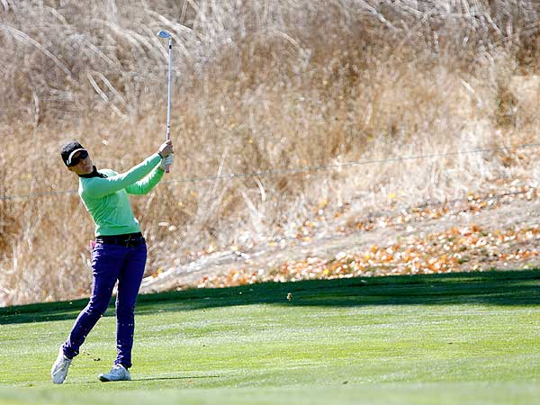 Mollie Fankhauser shot 68 and is in second, one shot behind Kim.