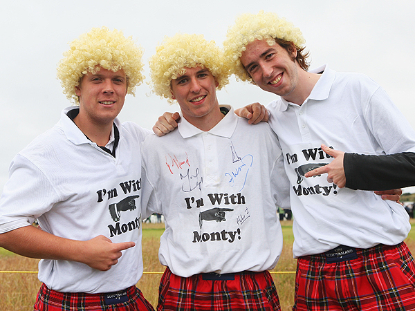 Colin Montgomerie fans at Carnoustie proudly supported their man.