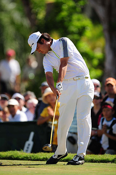 Thanks to an eagle on the last hole Sunday, Kevin Na finished in a tie for fourth place.