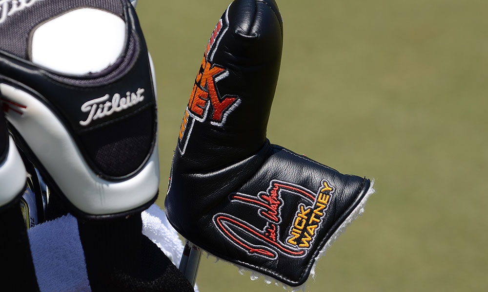 Watney also has a customized Scotty Cameron headcover for his putter.