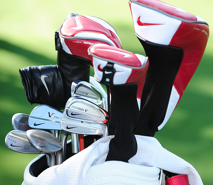 Nick Watney plays a mix of different Nike irons.