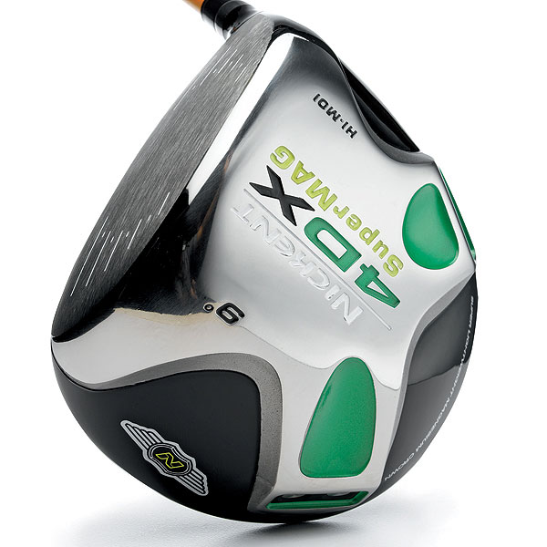 Nickent 4DX SuperMag                           $379, graphite                           nickentgolf.com                           Lofts: 8°, 9°, 10.5° and 12°                           Best for: Average players                                                       Titanium has been a super-metal in driver heads since the mid '90s due to its relative strength and light weight. Nickent now swaps titanium in the crown for magnesium, which has half the mass. The net effect is an additional eight grams positioned lower and farther rearward (24 grams total in two visible green plugs) than in the existing 4DX driver. This shift creates greater head stability through impact, plus higher launching (by 2-degrees) shots. The 46-inch SuperMag makes a loud, cowbell-like sound at impact.