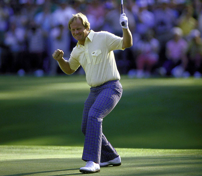 No. 2: Jack Nicklaus                             Playing Career: 1961-2005                             No one can argue that when it came down to the most-heated, most pressure-packed moments, Nicklaus came through more often than not. If he hadn't already beaten you from the tee box and green, he'd break you with a putt out of nowhere. Nicklaus' putting greatness is more about the drama than anything else. He one-putted six of the final nine greens at the 1986 Masters to roar from eight spots back to claim his record-setting 18th major. Each one is a reminder of what legendary putting is all about.