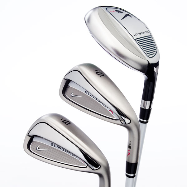 "$699, graphite                       nikegolf.com                        Tom Stites, Director of product creation: ""Slingshot HL is a wonderful blend of easy-to-hit hybrids and deep undercut irons that utilize 'Slingback' technology. Our 3-dimensional 'flow weighting' is positioned in each club to achieve optimum ball flight throughout the set.""                        How it works: The ""Slingback"" bar pushes weight further back, to increase head stability and get shots airborne. Sole widths vary throughout the set, to achieve desired launch and control. Three hybrids (replacements for 3-, 4- and 5-iron) plus five irons (6 to 9, PW) all feature a hounds tooth print that projects understated femininity without appearing overly girly. The motif appears on shafts, iron cavities and hybrid head covers. Pearl white shafts and black/gray grips complete the ensemble.                                               Buy and Compare These Irons"
