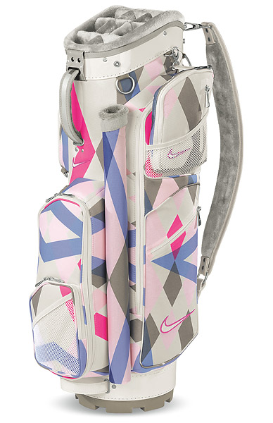 Nike Brassie Cart Bag, $210; nikegolf.com                           A 10-way, fur-lined top and external putter will protect and separate your clubs while a whopping nine functional pockets make storage a breeze. Also included: two matching accessory pouches and a matching rain hood.