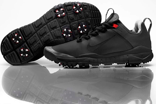 Nike makes various spikeless shoes for pro-shop and range use, but a prototype based on the Nike Free running shoe—with a biomechanical design to approximate the experience of playing in bare feet—has been worn by Tiger Woods. The shoes are not yet available to the public, but rumor has it they could arrive in the spring.