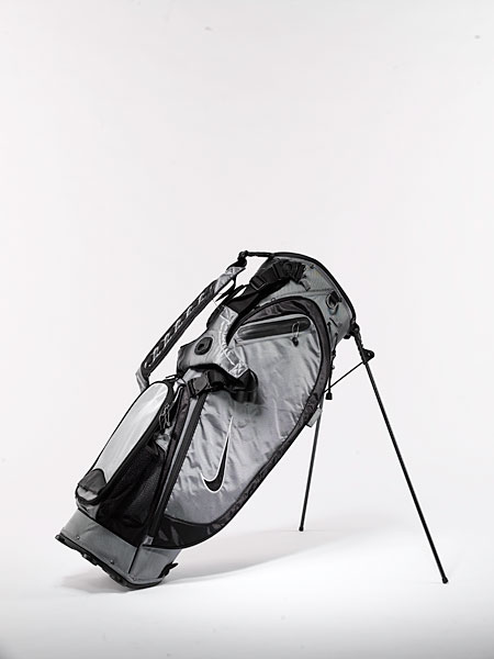 "Nike Collegiate Carry ($150): The ""Double-Single Quick Clip Strap System"" enables you to quickly transform your bag from two straps to one -- a handy feature if you often play with a caddie. The ""Woven Air"" revolving double strap system provides cushioning and even weight distribution. Extra amenities include a waterproof fleece-lined valuables pocket and a zip-off pocket."