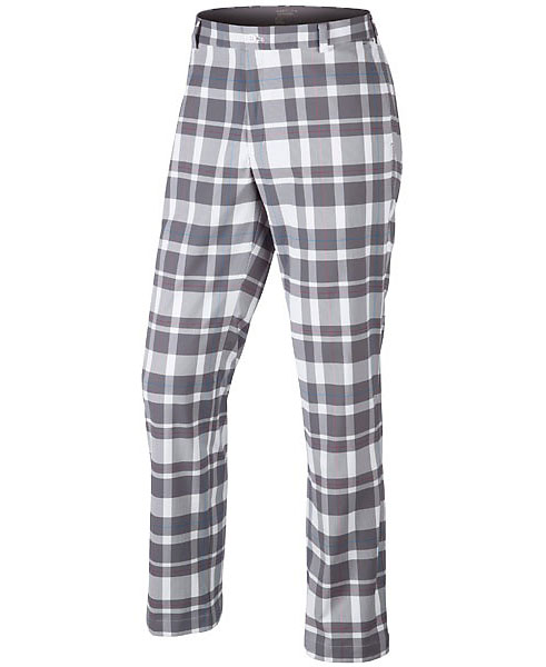 Nike Fashion Plaid Pant                       $90, nikegolf.com                       Nike's proprietary tartan design is available in five colors. Composed of a polyester and spandex blend, the stretch, flat front, Dri-FIT pants also include a V-notch at the hem.