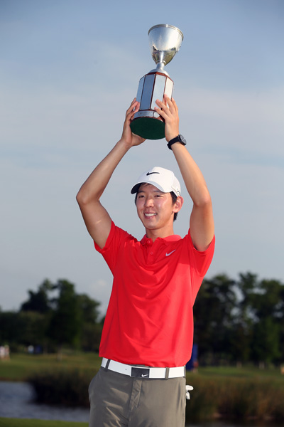 The victory was Noh's first on the PGA Tour. He also became the first golfer to complete 54 holes at TPC Louisiana without a bogey.