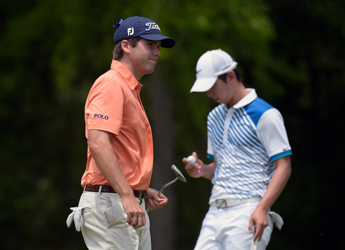 It's been a record-breaking weekend at TPC Louisiana. On Friday, Ben Martin (left) shot a course record 10-under 62 on Thursdays, while Noh became the first player to complete 54 holes at the course without a bogey on Saturday.