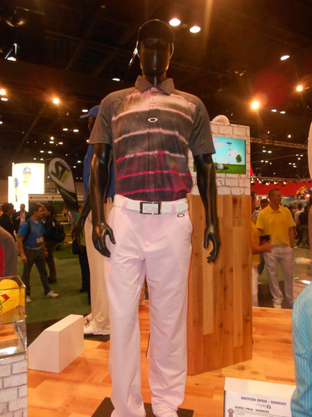 Oakley showcased several outfits that will be worn by Bubba Watson at future majors.