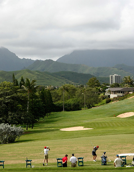 Then President-elect Barack Obama celebrated his 2008 election victory on the golf course during a trip to Hawaii in December 2008.