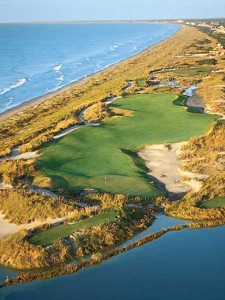 "The Ocean Course at Kiawah IslandWith 10 holes located along the Atlantic Ocean, Kiawah Island boasts dramatic views on almost every hole. In 1991, Kiawah Island gained notoriety after hosting the Ryder Cup that became known as ""The War on the Shore."" The U.S. won when Bernhard Langer missed a short putt in the final match of the event.The Ocean Course will host the PGA Championship in 2012.Kiawah Island is ranked No. 4 in GOLF Magazine's Top 100 Courses You Can Play."