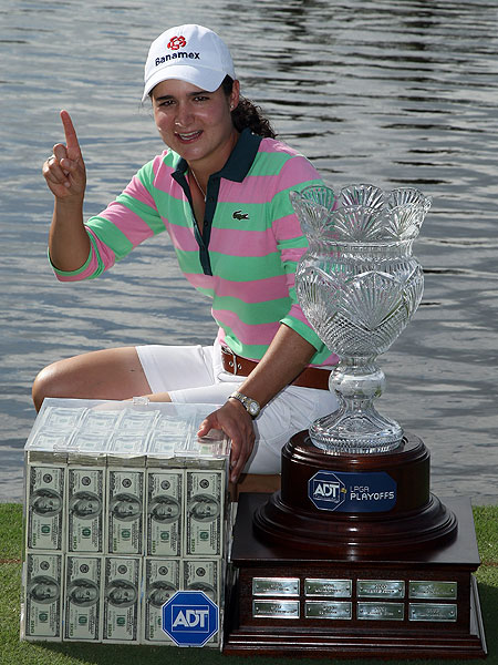 LPGA Tour ADT Championship: Final Round                                                      Before Sunday's action at the ADT Championship started, the players' previous scores were erased and everyone started at even par. With a $1 million first prize on the line, the No. 1 player in the world, Mexico's Lorena Ochoa, walked away with the cash.