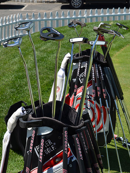 There were plenty of long Odyssey putters for players to try also.