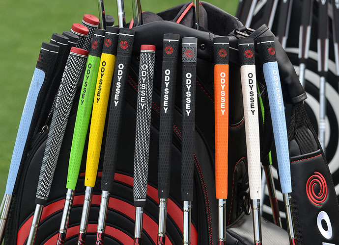 Odyssey has lots of colorful grip options available for pros looking to add some style to their putter.