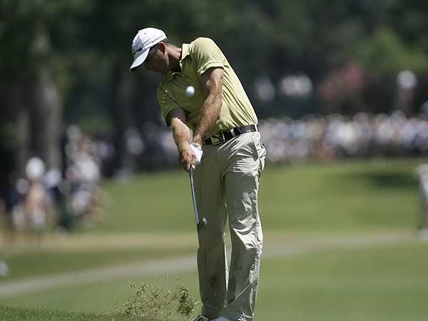 Geoff Ogilvy, the 2006 U.S. Open champion, is tied for third at three under par.