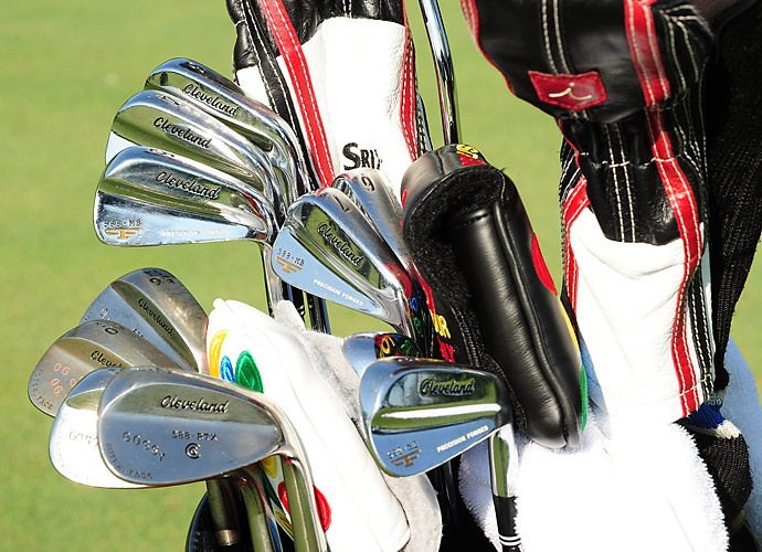 Oliver Goss has a bag full of Cleveland's, including his 588 MB Forged irons.