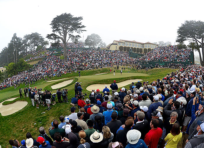 50. The Olympic Club, San Francisco, Calif., No. 18, par-4: The decider in several U.S. Opens, notably in 1955, when Jack Fleck shocked Ben Hogan, this shortish uphill thrust demands a perfectly gauged approach to a mostly blind, narrow, vexing green. An amphitheater of grass and one of golf's most formidable clubhouses make for a compelling backdrop.