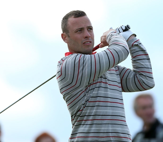 Pistorius, an 18 handicap, partnered with Paul McGinley during the tournament, which pairs amateurs with pros.