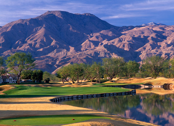 "7. PGA West (TPC Stadium), La Quinta, Calif.                            Back tees: 7,300 yards, par 72; rating: 76.1, slope: 150                            What a 16 handicapper would shoot: 95                             Find out your own handicap in seconds.                            Technology has rendered the course the PGA Tour pros refused to go back to less dangerous than in its big-hair heyday, when it was the ""it"" course of the late 80s, but for less proficient ballstrikers, it's absolutely relentless in its assault of insanely deep bunkers, Vail ski-hill moguls and demanding carries over water and desert."