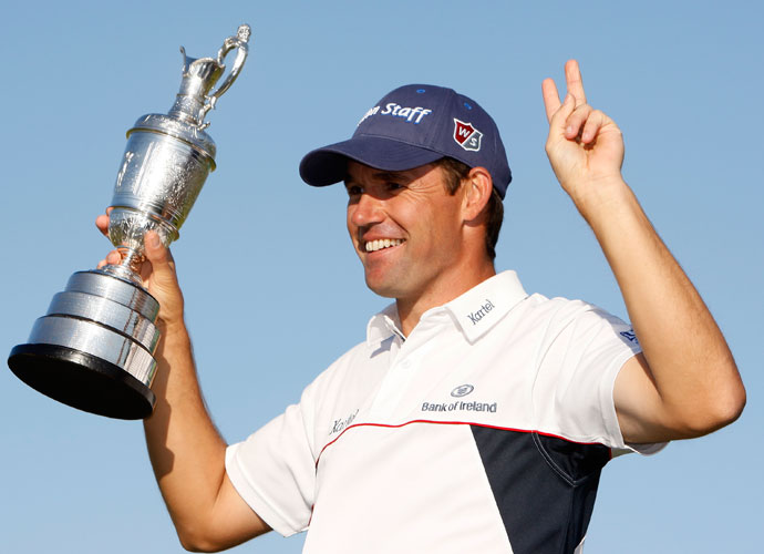 2008 | Setback                                    Woods undergoes total reconstructive surgery, missing the remainder of the season, including the British Open at Royal Birkdale and the PGA Championship at Oakland Hills -- both won by Padraig Harrington.