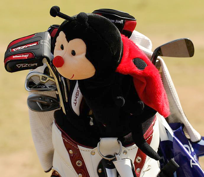 Past Open champ Padraig Harrington relied on Wilson Staff FG Tour V2 irons as well as a nifty headcover this year at Muirfield.