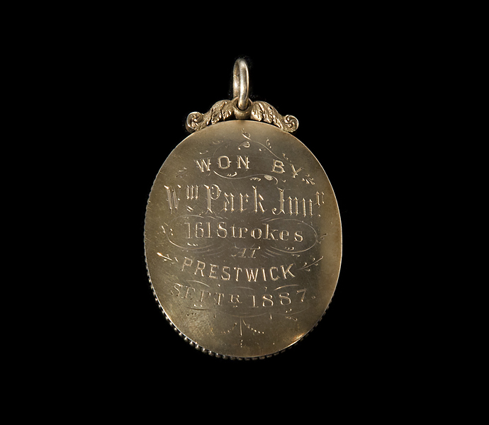 Willie Park, Jr.'s winner's medal from the 1887 British Open.