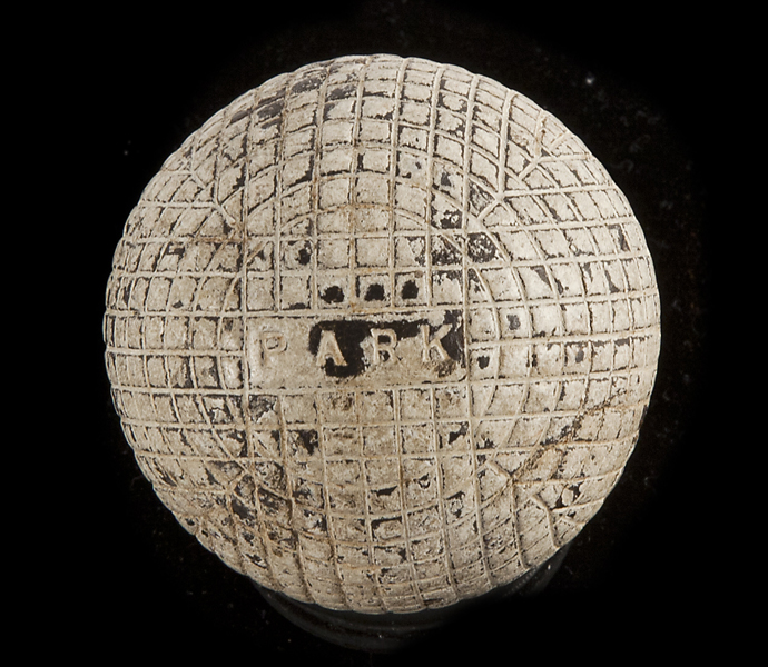 "A ""Park"" golf ball created out of Park's family shop, circa 1880s."