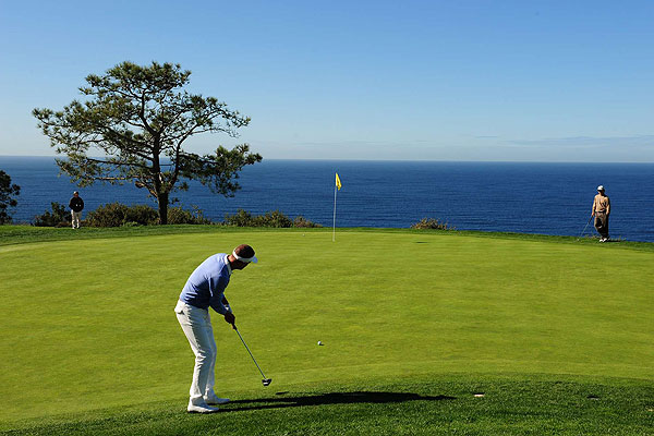 Jesper Parnevik on the scenic fourth green.