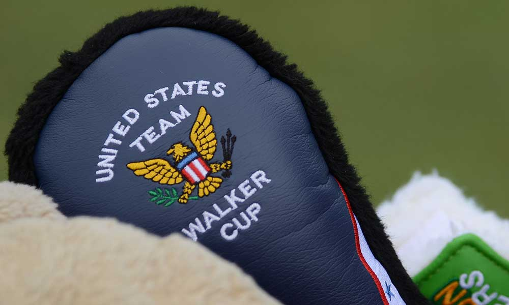 Amateur Patrick Cantlay is sporting some very cool, non-Masters gear in his bag.