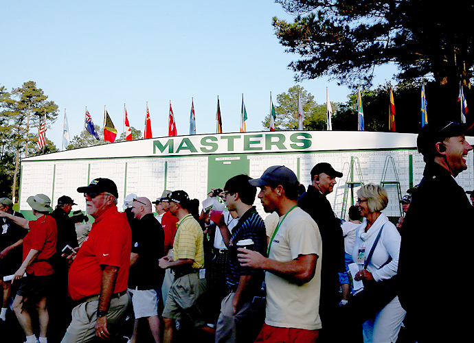 Patrons filed onto the grounds to get a look at the course and the players on Monday.