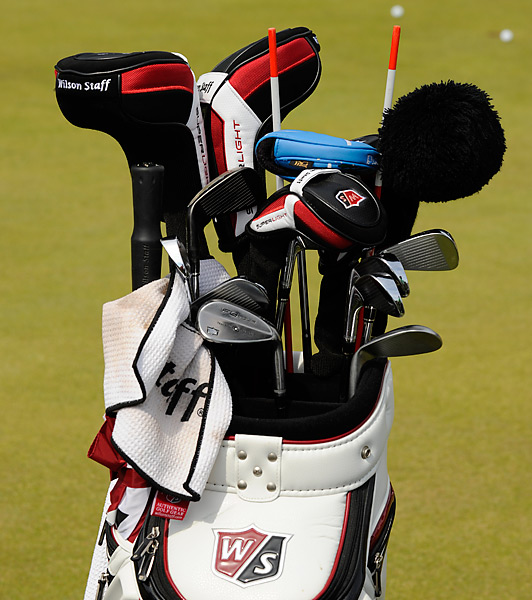 Paul Lawrie, who won the Open at Carnoustie over Jean van de Velde and Justin Leonard, plays Wilson gear.