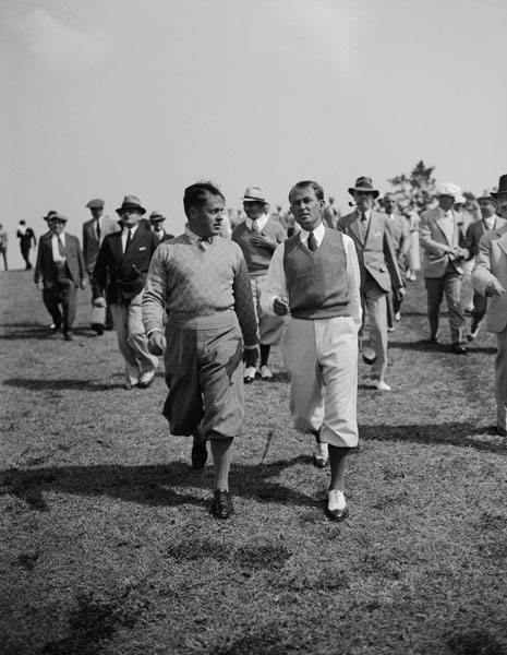 4. Paul Runyan                            Runyan played alongside Bobby Jones in the 1934 Masters, then known as the Augusta Invitational Tournament. Runyan was said to shoot in the mid 70s even into his 80s. A 90-year-old Runyan shot a 9-over-par 36 during the par 3 tournament at the 1999 Masters -- a few months before his 91st birthday.