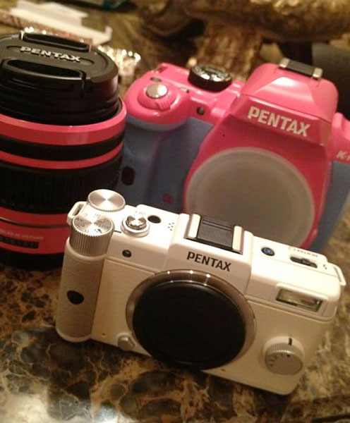 Paula Creamer incorporated her signature color, pink, into her new cameras.